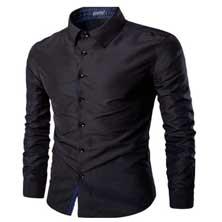 Мужская Рубашка Черная Р-205