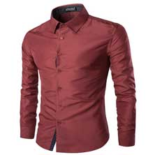 Мужская Темно-Красная Рубашка Р-206