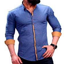Светло-Синяя Рубашка Мужская Р-214