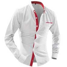 Белая Рубашка со Вставками Р-219