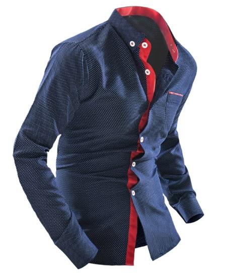 Синие брюки и синяя рубашка доставка