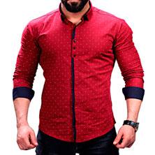 Красная Рубашка Мужская Р-227