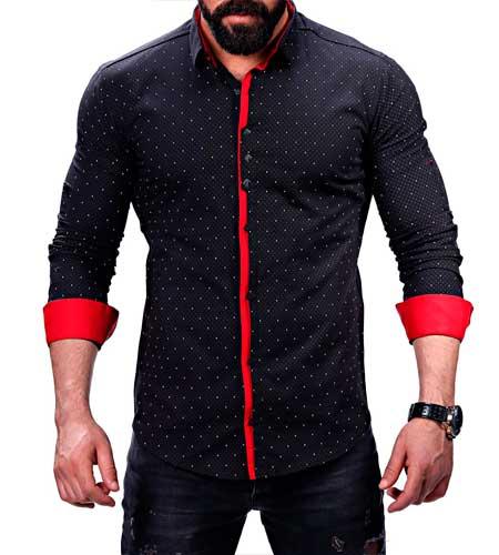Пальто Мужское Чёрная Рубашка