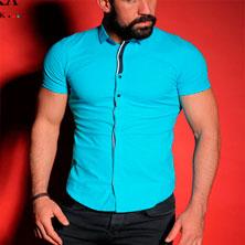 Бирюзовая Рубашка для Парня Р-238