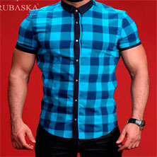 Клетчатая Рубашка Мужская Р-245