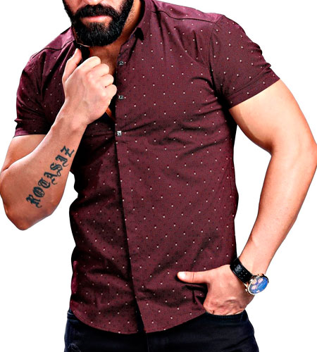 Мужские модные рубашки с коротким рукавом