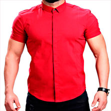 Красная Рубашка Летняя Р-251