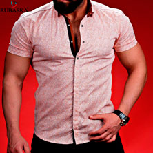 Модная Рубашка с Коротким Рукавом Р-252