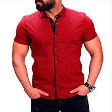 Красная Рубашка с Коротким Рукавом Р-262