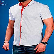 Белая Рубашка с Красной Вставкой Р-265