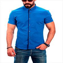 Светло-Синяя Летняя Рубашка Р-269