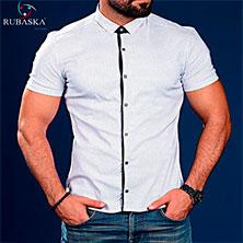 Мужская Рубашка с Коротким Рукавом Р-272