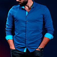 Рубашка Мужская с Длинным Рукавом Р-274