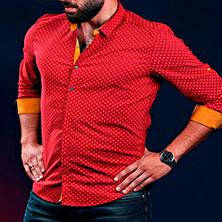 Мужская Рубашка на Выпуск Р-277