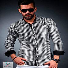Черно-Белая Рубашка Клетчатая Р-297