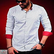 Белая Рубашка с Красными Манжетами Р-298