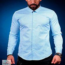 Стильная Голубая Рубашка для Парня Р-299