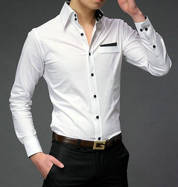 Красивые белые рубашки мужские