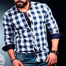 Купить Рубашку в Клетку Мужскую Р-305
