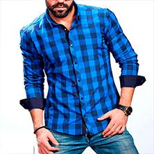 Клетчатая Рубашка Мужская Р-306