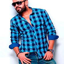 Синяя Клетчатая Мужская Рубашка Р-307