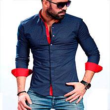 Модная Темно-Синяя Рубашка Р-314