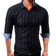 Мужская Рубашка в Полоску Р-316