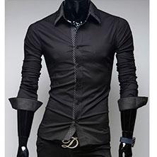 Строгая Черная Рубашка Р-323