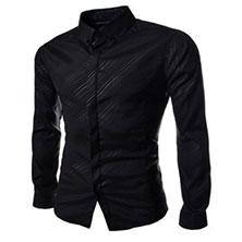 Стильная Черная Рубашка Р-325