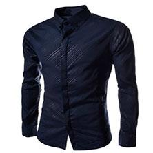 Темно Синяя Рубашка Мужская Р-326