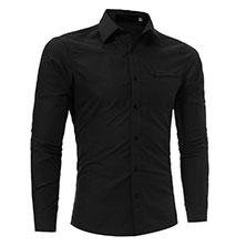 Мужская Черная Рубашка Р-330
