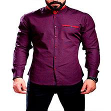 Модная Фиолетовая Рубашка для Парня Р-344