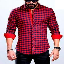 Красная Рубашка в Клетку Р-350