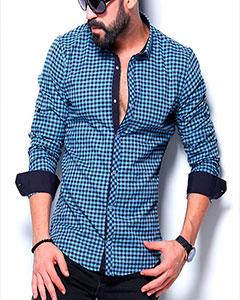 Мужская Клетчатая Рубашка Р-358