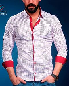 Белая Модная Рубашка Мужская Р-373