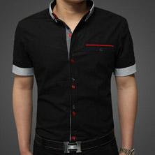 Стильная Черная Рубашка Р-76