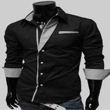 Черная Стильная Рубашка Р-85