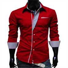 Красная Мужская Рубашка Р-87