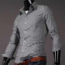 Мужская Рубашка в Клетку P-92