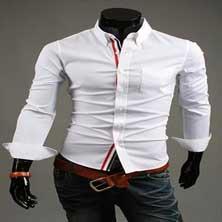 Стильная Мужская Белая Рубашка Р-94