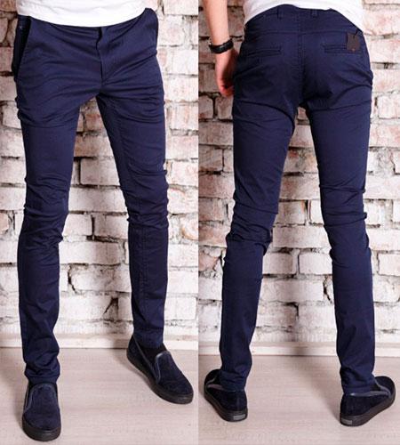 синие брюки мужские фото