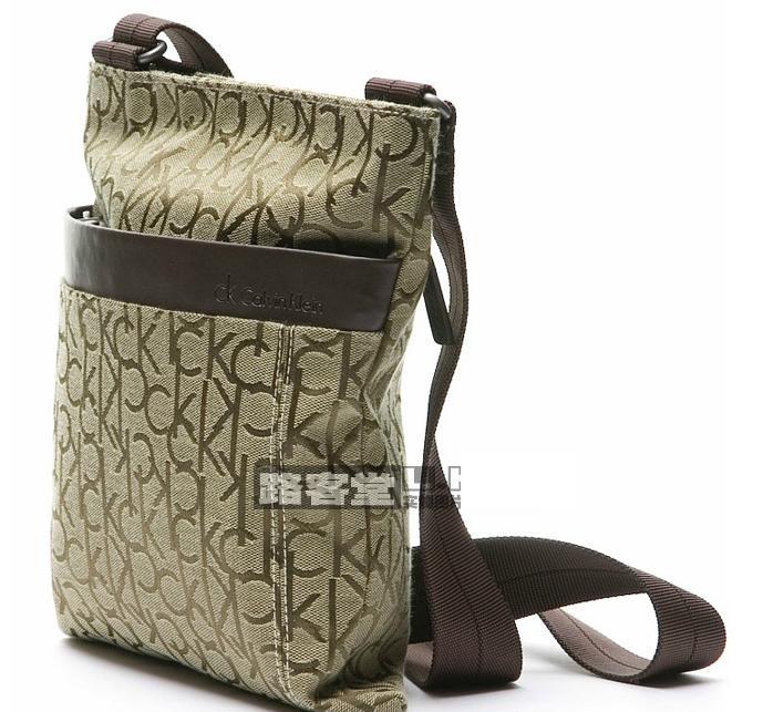 коричневая сумка в клетку : Calvin klien s
