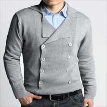 Светлый Мужской Пуловер S-73