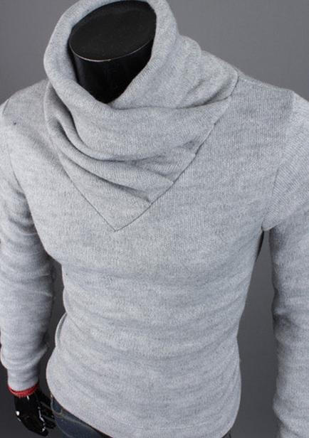 Белый мужской пуловер доставка