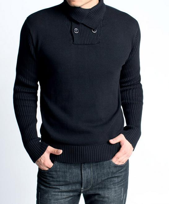 Черный мужской пуловер доставка