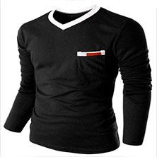 Черный Мужской Пуловер S-98