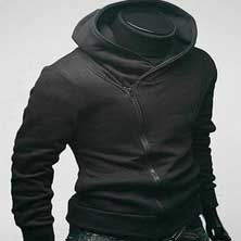 Черная Модная Мужская Толстовка Т-2