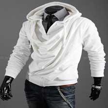 Модная Белая Толстовка Т-60