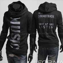 Черная Кофта Music T-76
