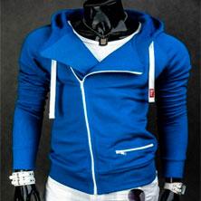 Модная Синяя Мужская Толстовка Т-96